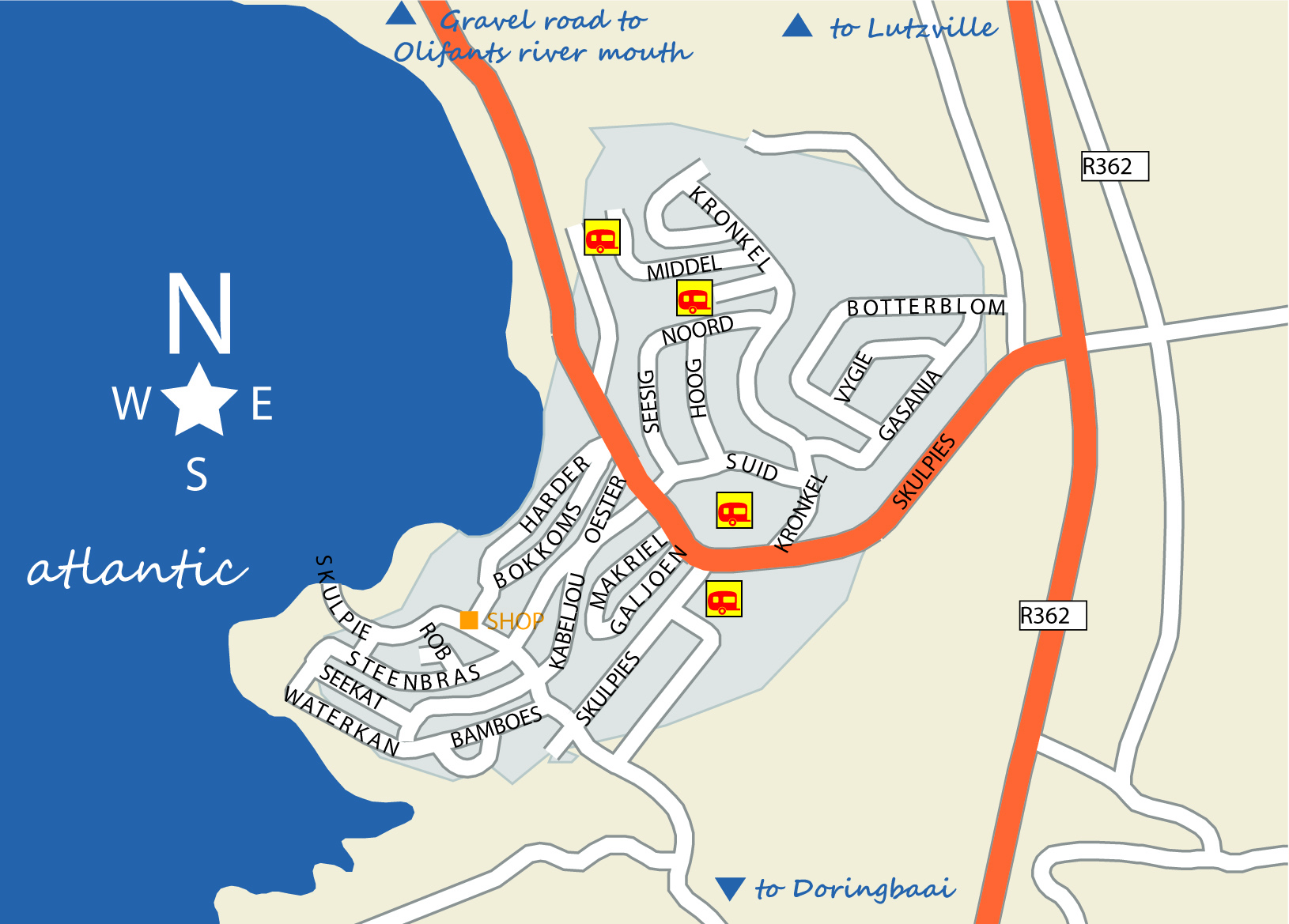 strandfontein map